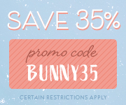 Save with promo code BUNNY35
